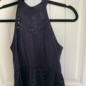 Xhilaration Blue Eyelet Dress